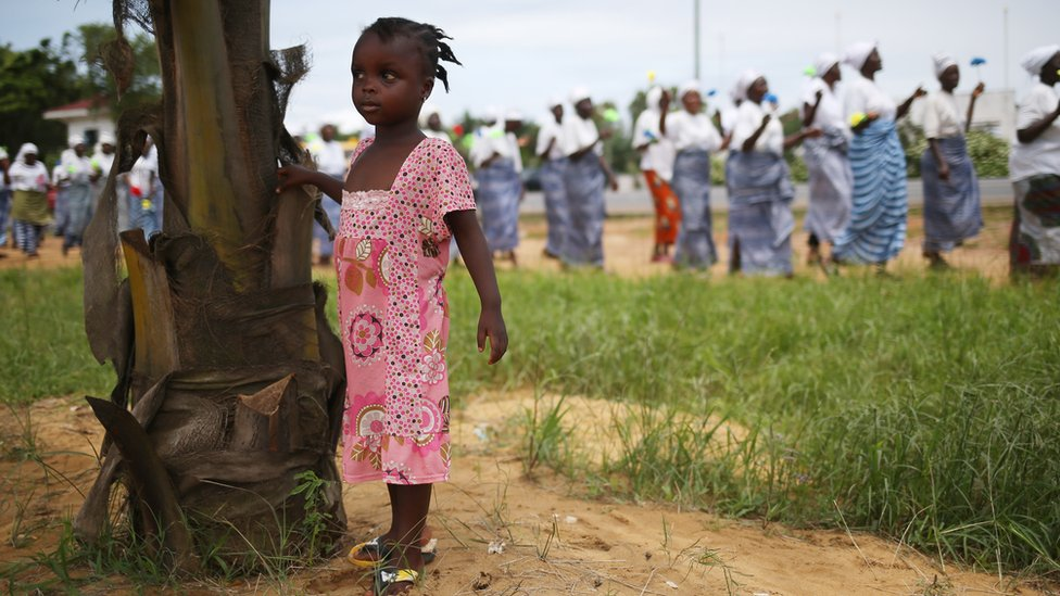 Little girl in Liberia