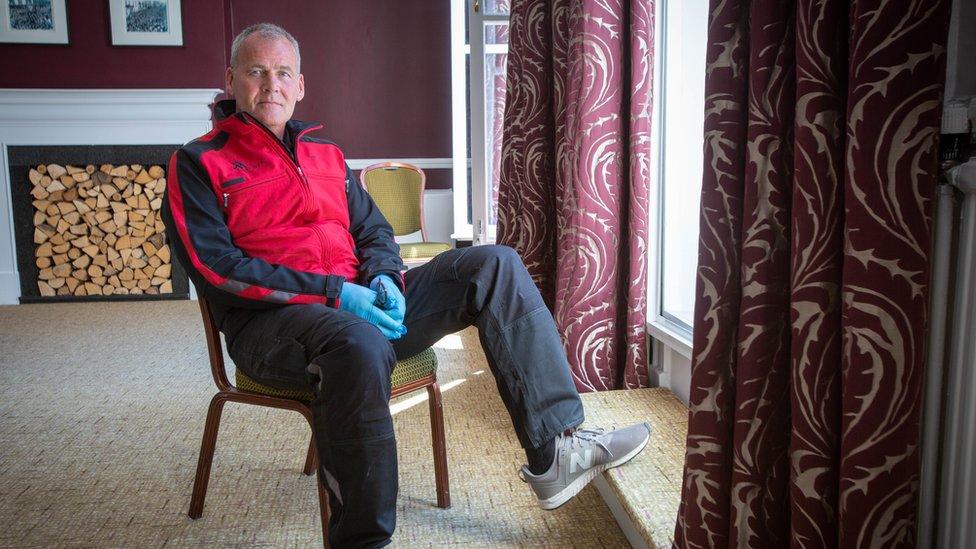 Will Whelan en el hotel Royal County