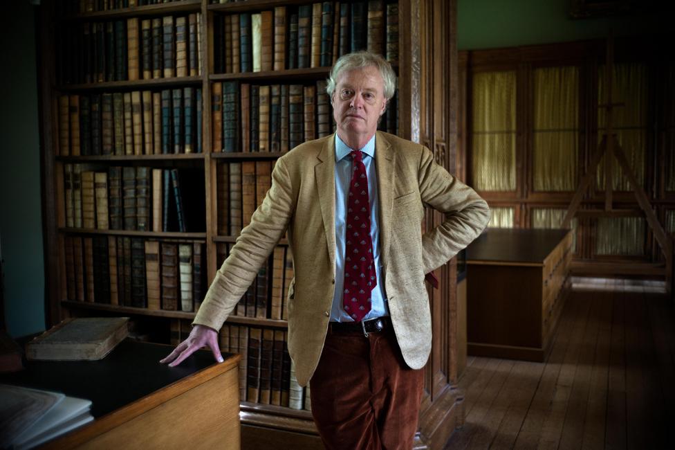 Christopher de Hamel in the Parker Library in 2016