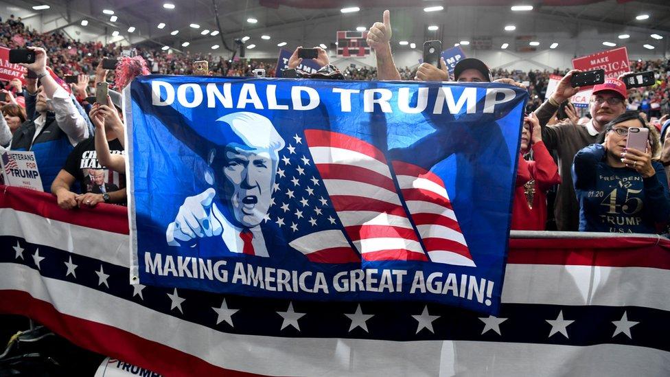Indiana Eyaleti'ndeki Cumhuriyetçi Parti destekçileri