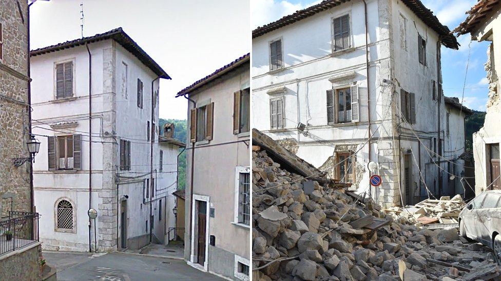 Destruction in Arquata del Tronto