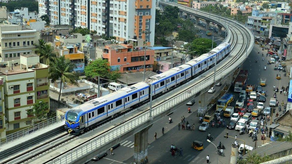 Chennai becomes sixth Indian city with metro railway - BBC News