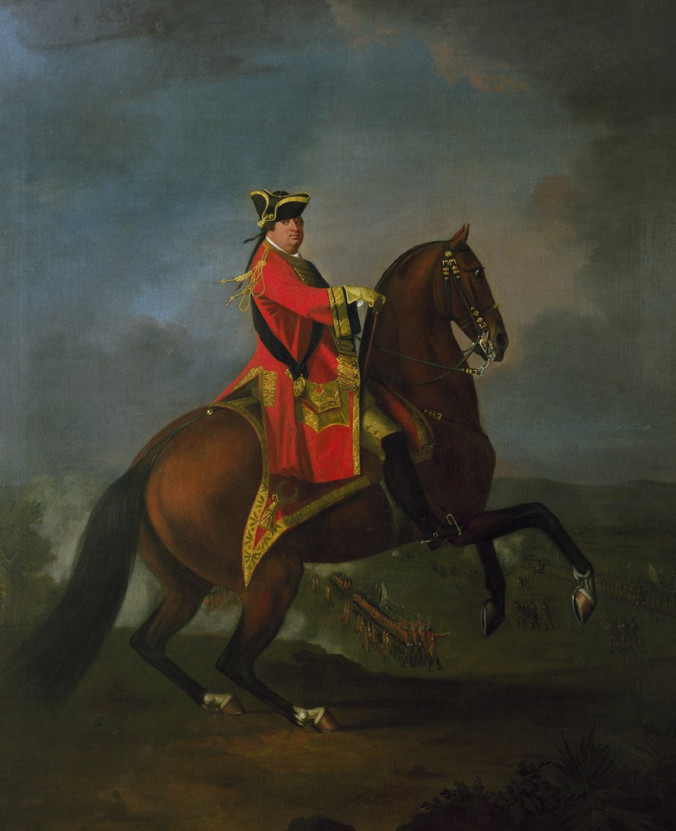 David Morier, Oil painting showing General H.R.H. The Prince William Augustus, Duke of Cumberland, with Culloden in the background