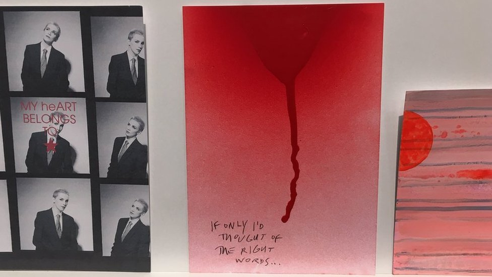 BBC News - Robert Smith of The Cure's anonymous artwork sells for £5,000
