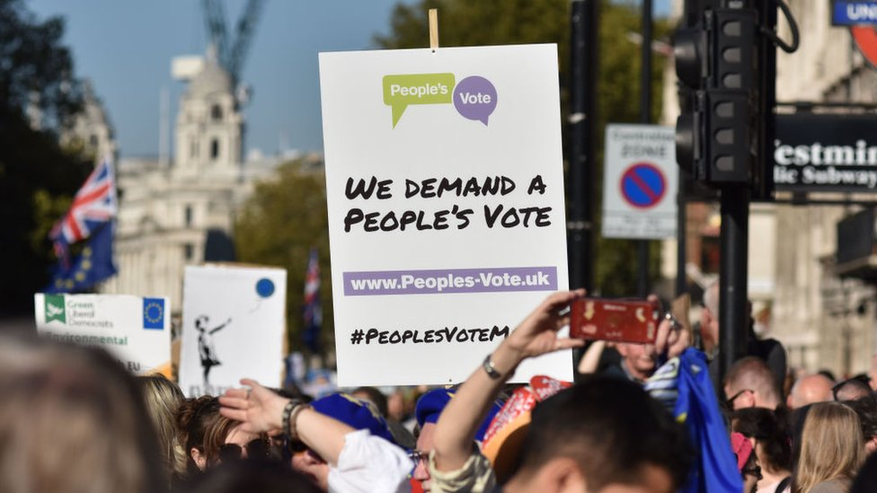 Manifestaciones para que se celebre otro referéndum