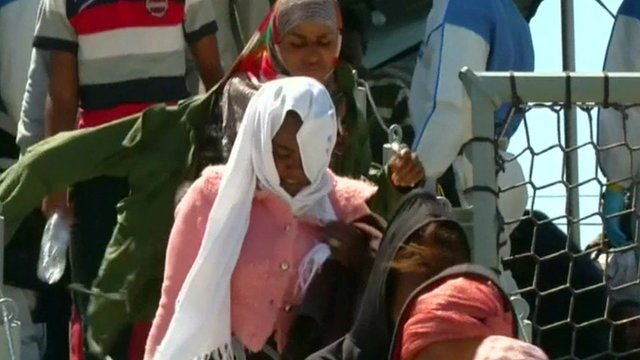Migrants arriving in Europe