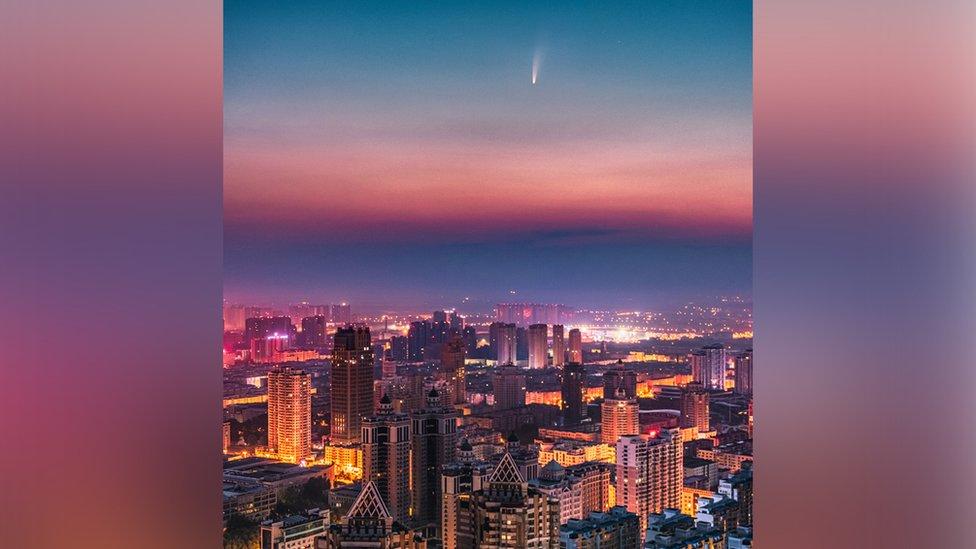Komet Neowise di Harbin