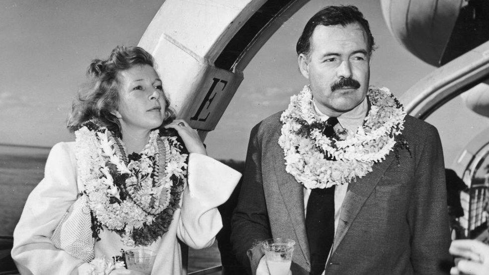 Martha Gellhorn y Ernest Hemingway.