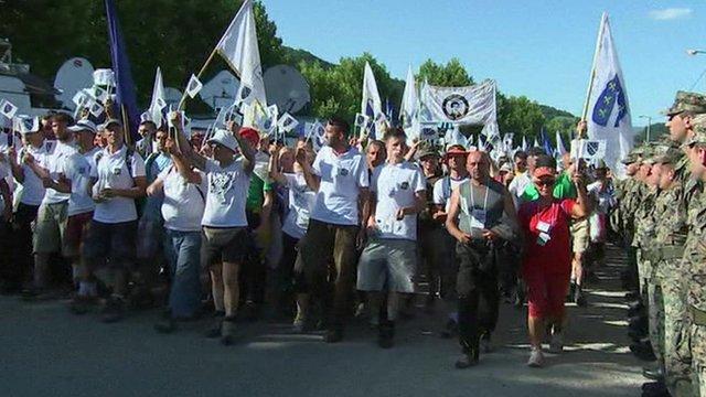 Annual peace march held in Srebrenica