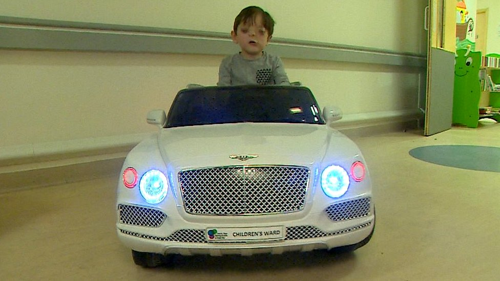 Mini cars ease children's journey to operating theatre