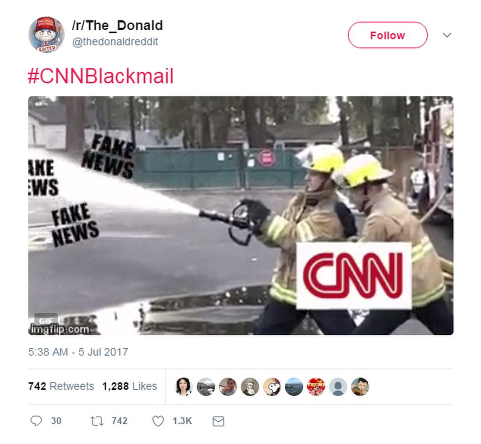 CNN fake news meme on Twitter
