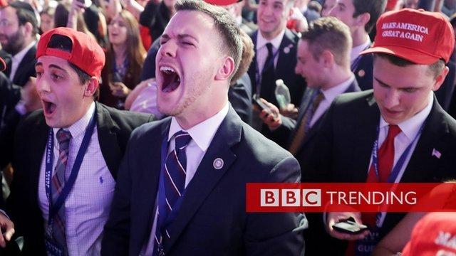 Jubilant Trump supporters