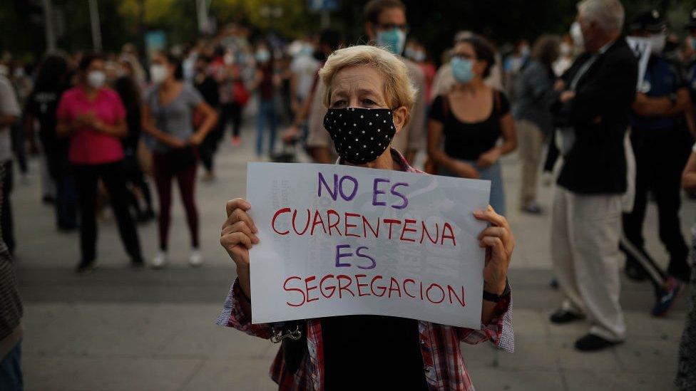 Protestas en Madrid, 20 de septiembre