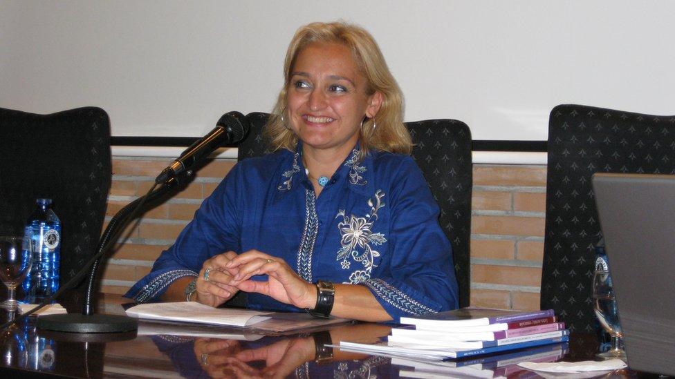 Susana Guerrero Salazar en el Seminario Internacional de Lengua Española y Medios de comunicación. Universidad de Málaga
