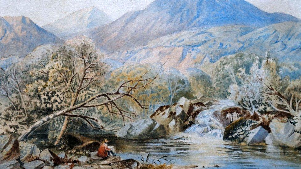 jedan od akvarela sa aukcije