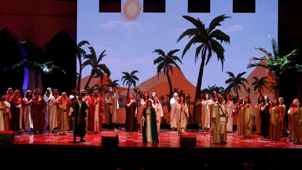 عرض أوبرالي في حفل في جامعة الرياض في 24 من فبراير/ شباط الماضي