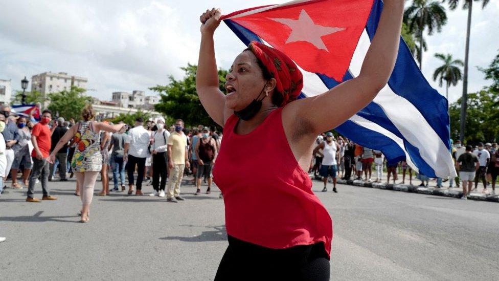 Protestas en Cuba del pasado 11 de julio.
