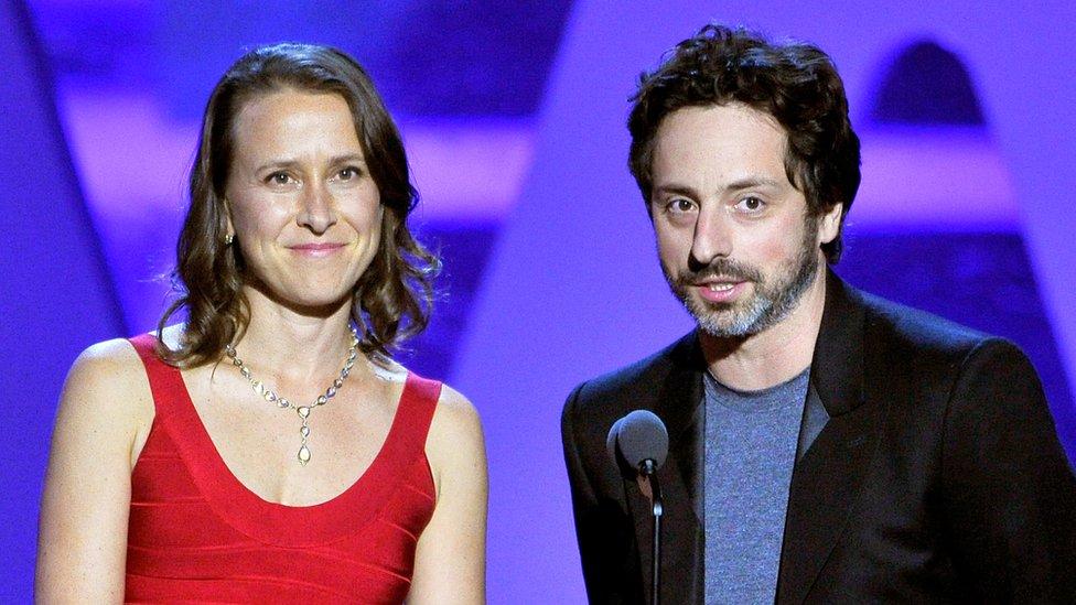 Anne Wojcicki con su exmarido Sergey Brin