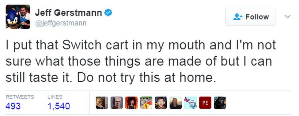 Jeff Gerstmann tweet