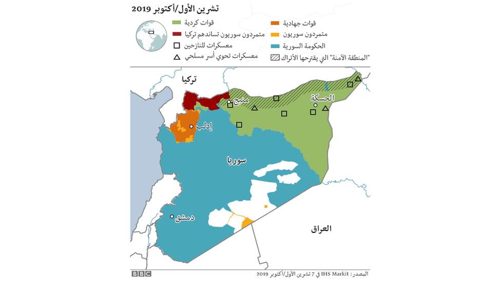 خريطة مناطق السيطرة