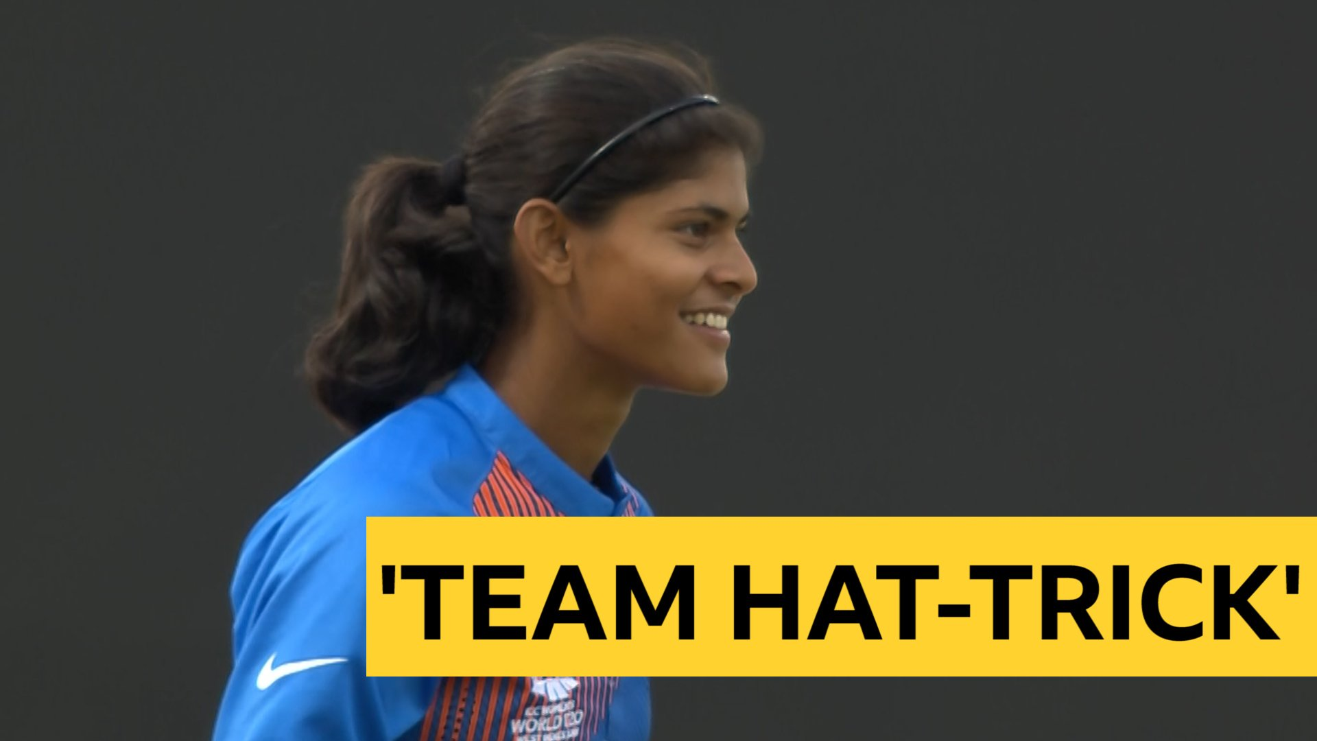 Women's World T20: India beat Ireland and take 'team hat-trick'