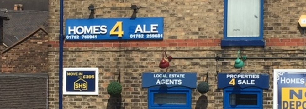 Sign at Stoke-on-Trent estate agent
