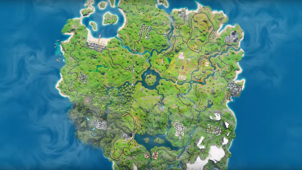 the new map in Fornite
