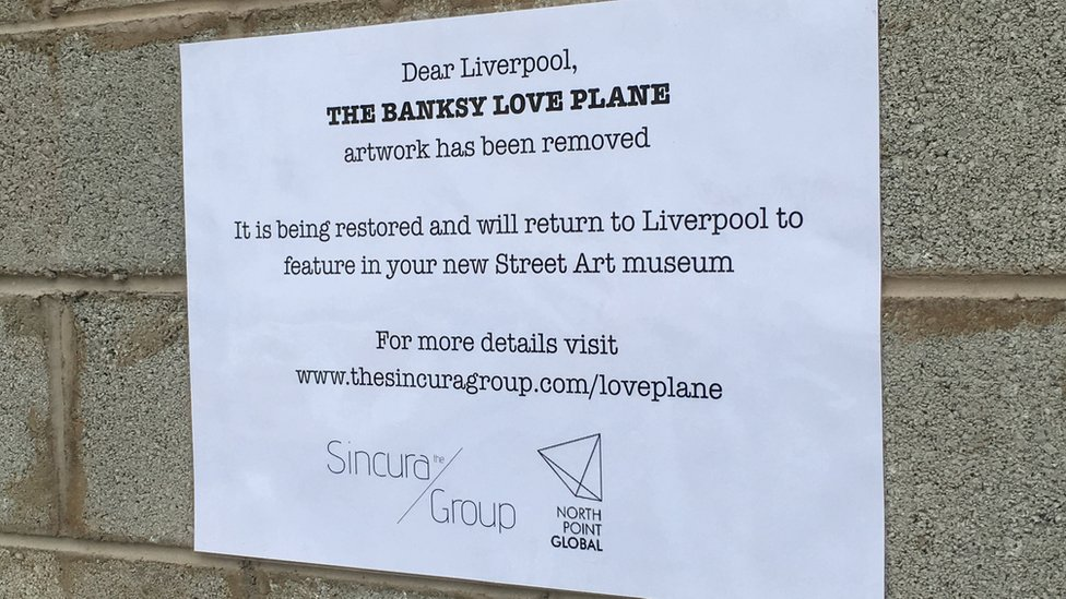 Notice where Banksy's biplane once was