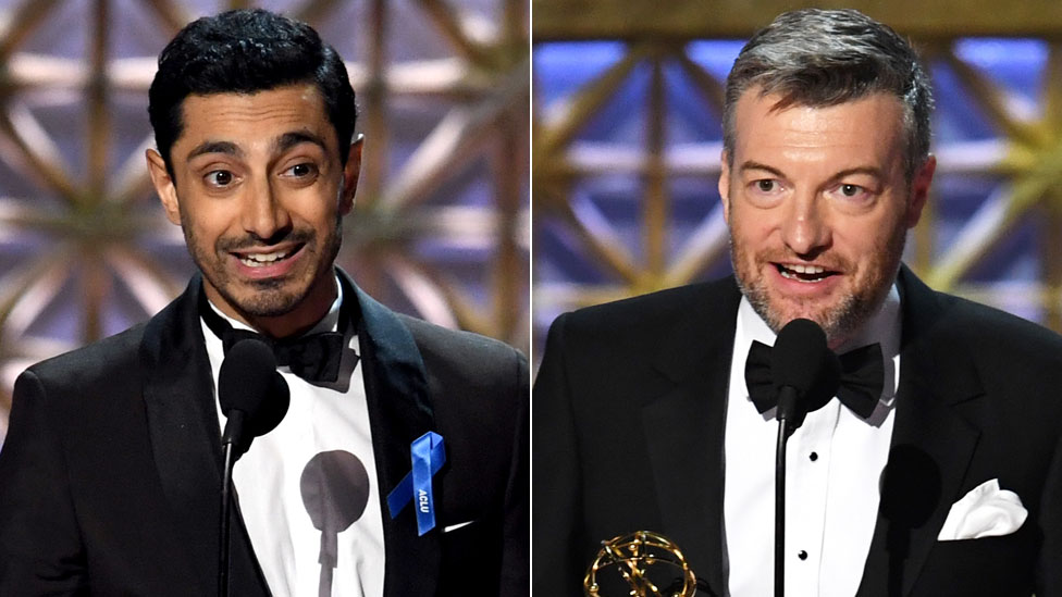 Riz Ahmed and Charlie Brooker