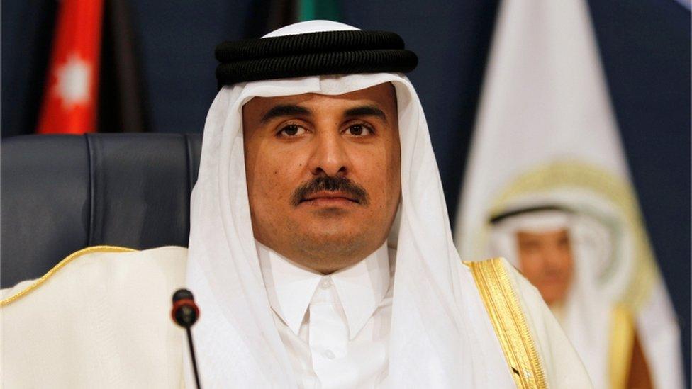 Emir of Qatar Sheikh Tamim bin Hamad al-Thani, 2017