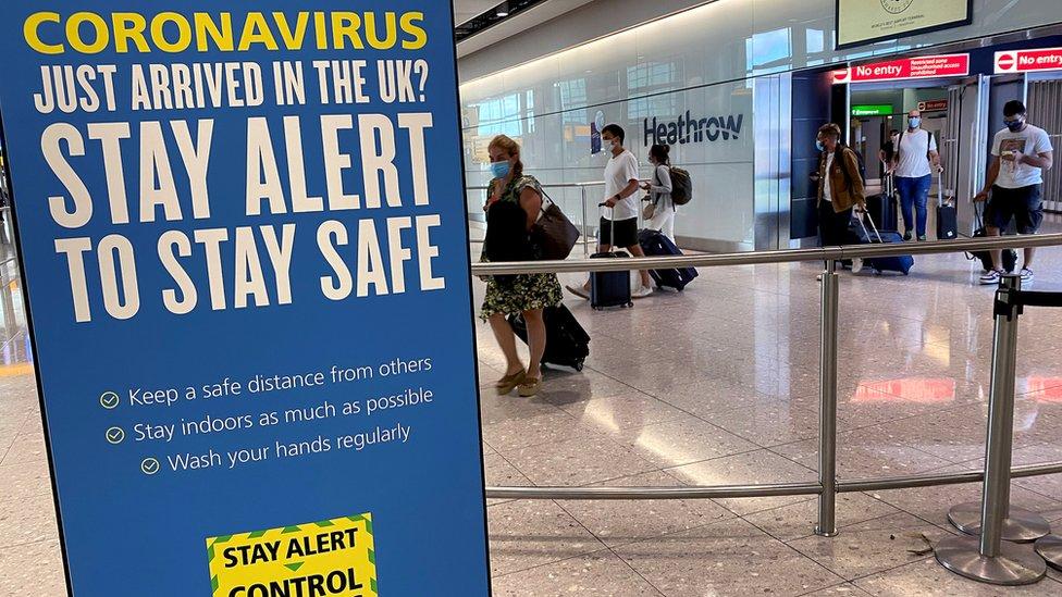 Sign at Heathrow arrivals