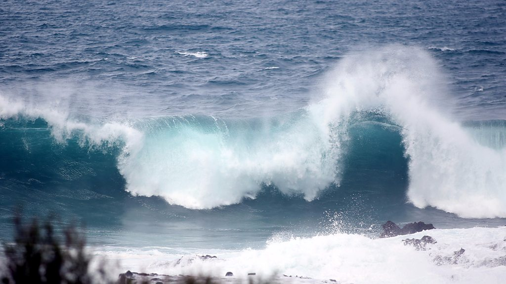 Huge waves hit Tenerife in Spain's Canary Islands
