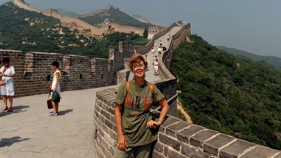 Jonna Mendez en la Muralla China