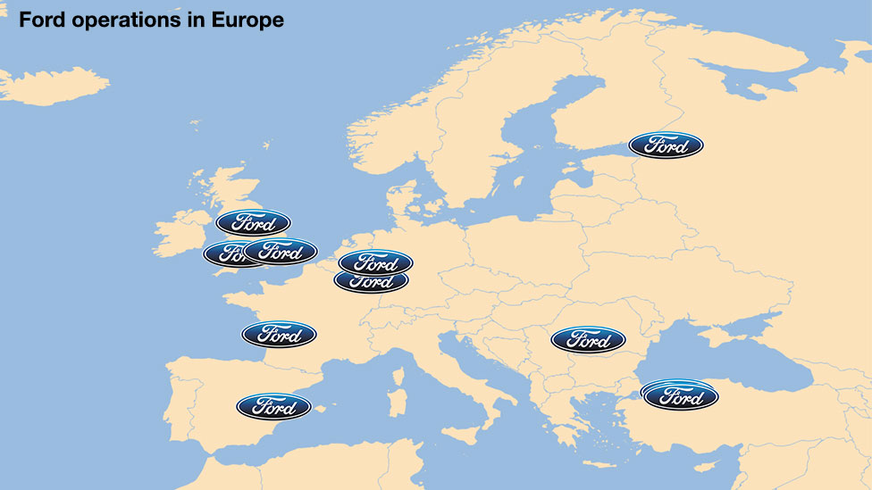 Ford Europe map
