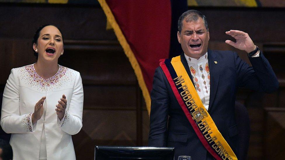 Rivadeneira y Rafael Correa