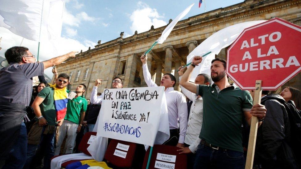 Protesto na Colômbia