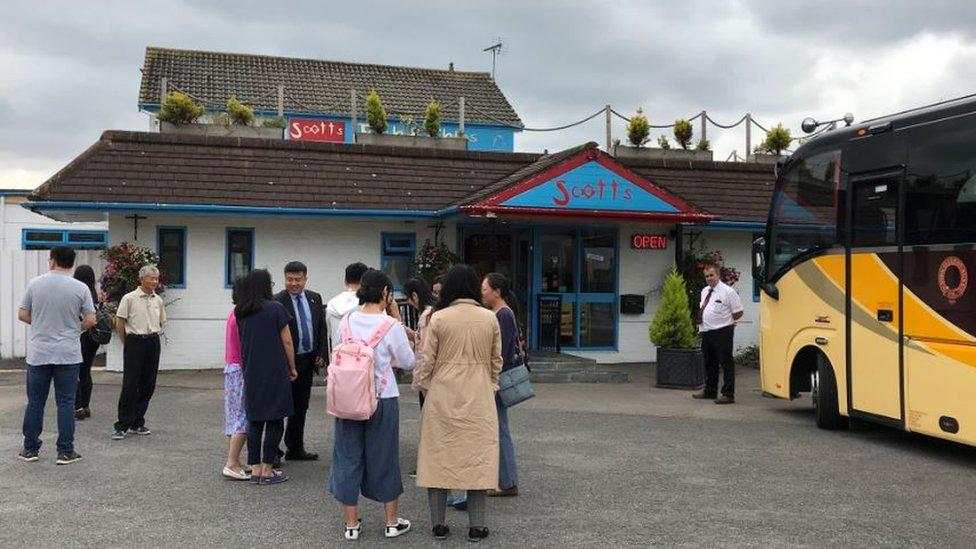 Chinese visitors to Scotts Fish and Chips