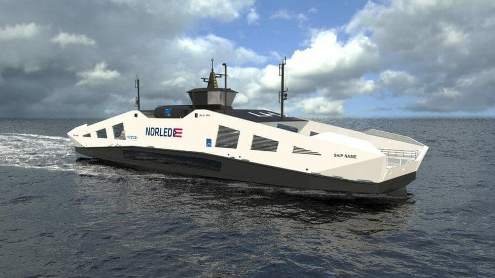 Artist's impression of Norled ferry