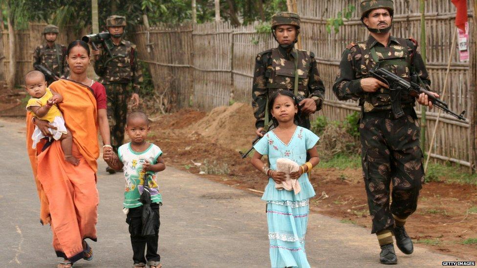 पूर्वोत्तर भारत में सुरक्षाकर्मी