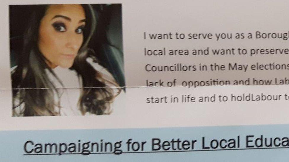 Karen Sunderland local election leaflet