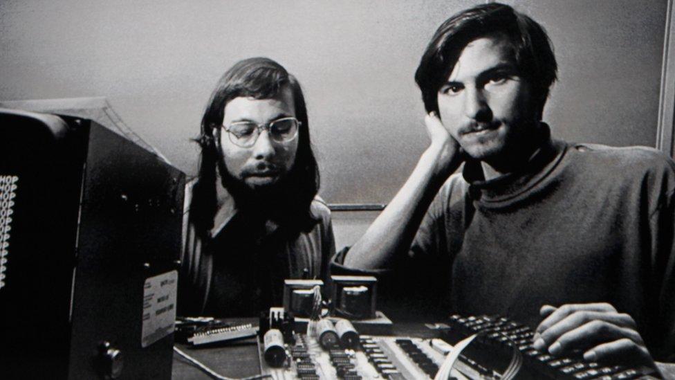 Steve Wozniak and Steve Jobs in 1996