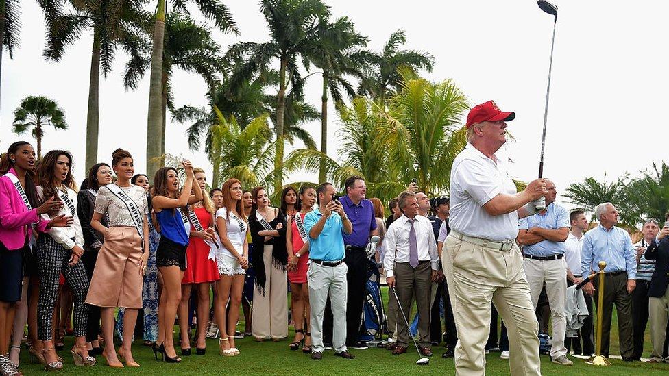 Trump at the Doral hotel