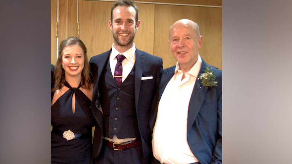 Alan Fitchett, pictured with his daughter Hannah and son Jonathan,