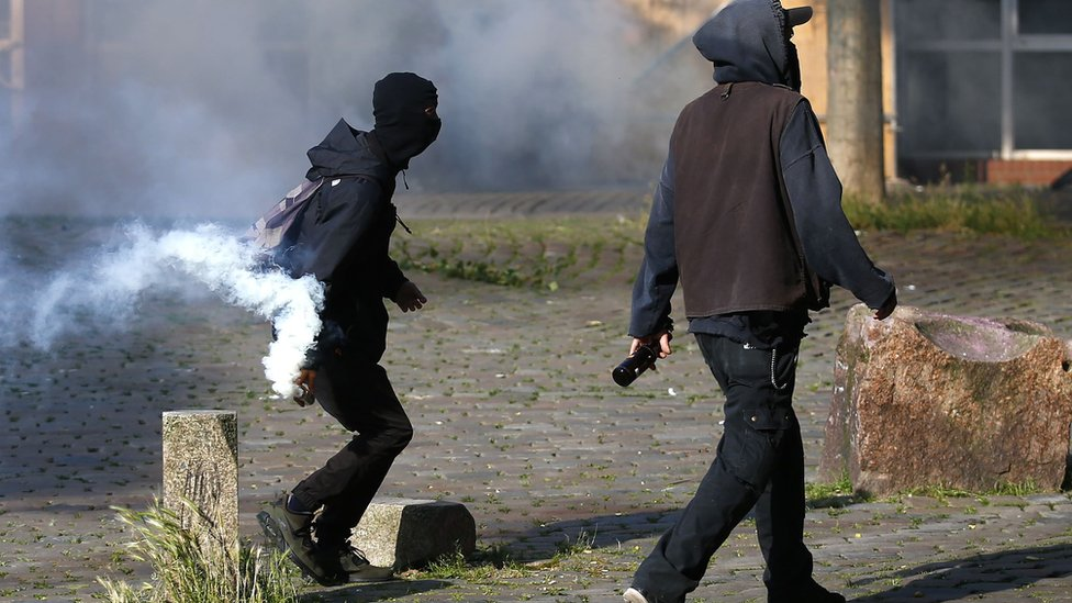 Hamburg protesters, 7 Jul 17