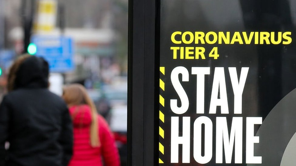 A 'stay at home' warning in London