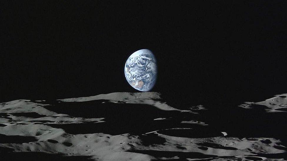Kaguya Moon South Pole