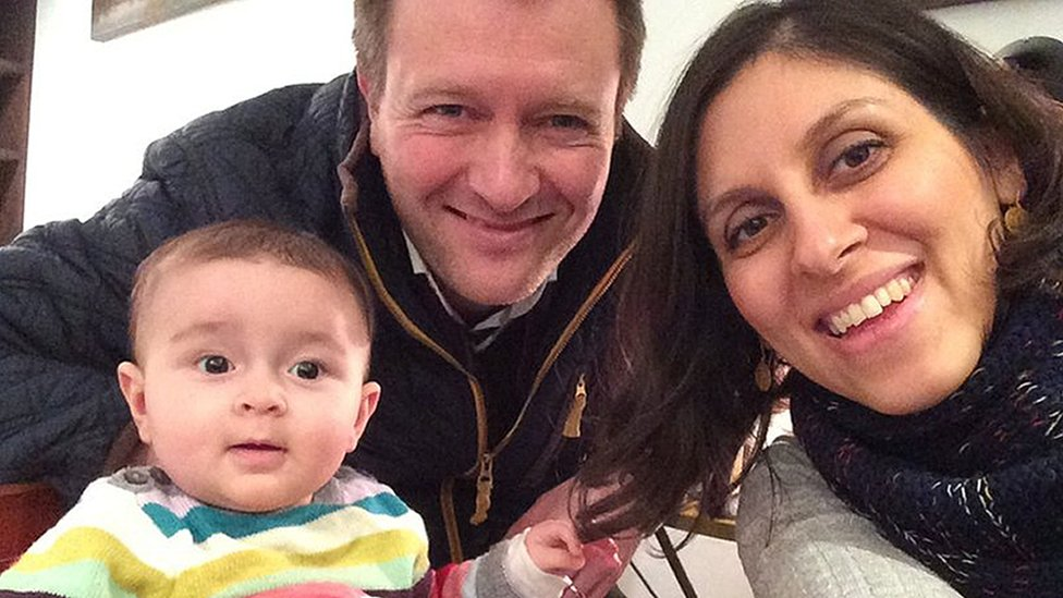 Richard Ratcliffe with wife Nazanin and daughter Gabriella