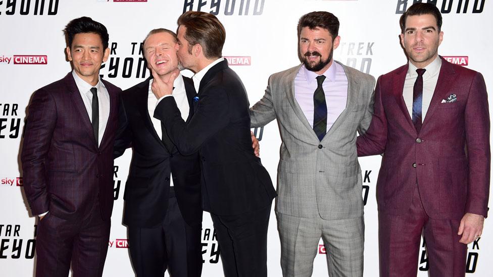 John Cho, Simon Pegg, Chris Pine, Karl Urban and Zachary Quinto
