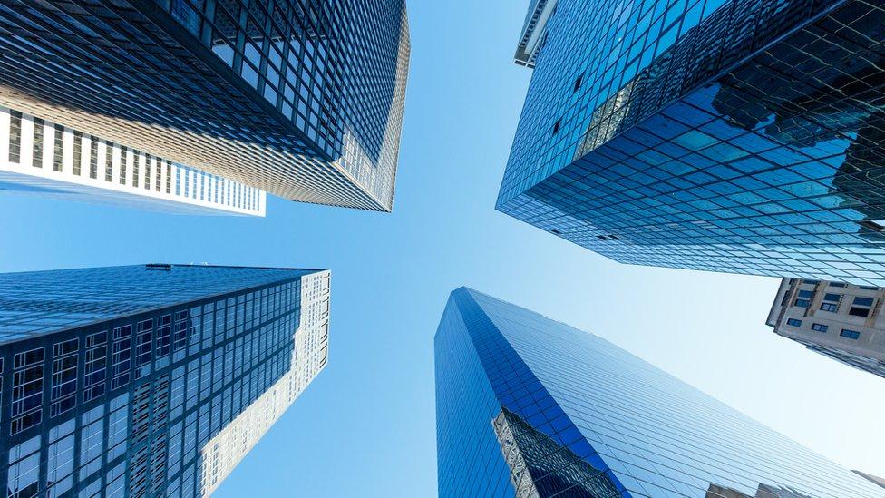 Edificios en Wall Street