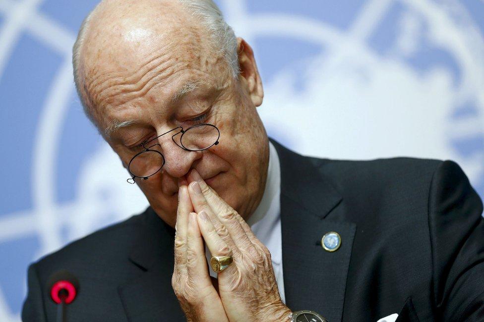 Steffan de Mistura, el enviado de la ONU para Siria